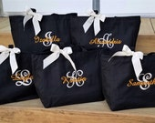 Set of 9 Bridesmaid Tote Bag Monogrammed Bags for Bride Bridesmaid Maid of Honor