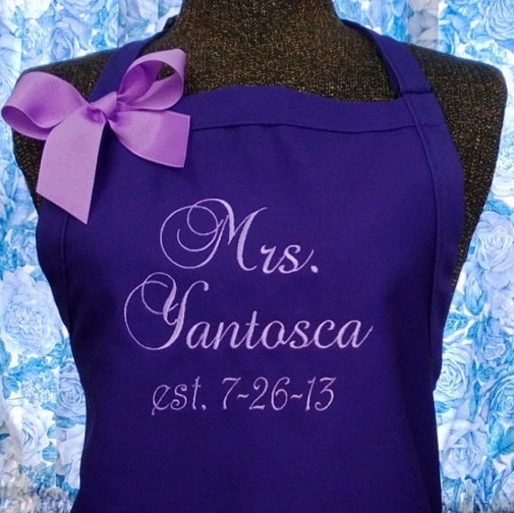 Personalized Wedding Gifts Kitchen : Apron Kitchen Cooking Personalized Wedding Gift