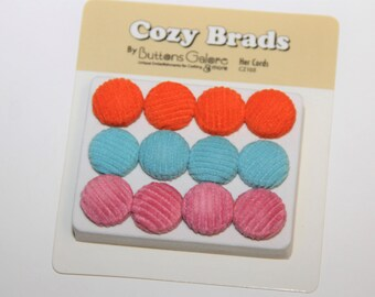 Sale-12 Brad Embellishments for Scrapbooking,Card Making,Home Decor,Mini Albums,Journals,jewerly,Altered Art
