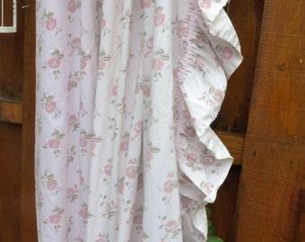 Laura Ashley, One Curtain, Floral Drape, Light Pink Curtain, Drapery, Full Length Curtain