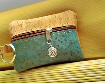 Portuguese Cork Small Wallet, Card & Id Holder, Change Coin Purse, Pouch, Key Holder, Eco-friendly, Portuguese Tiles, Azulejos, Cork