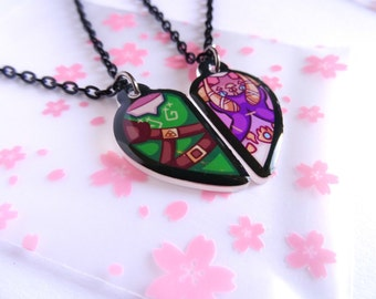 Link & Zelda BFF Necklace Set
