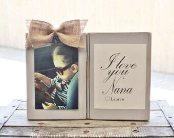 nana gift i love my nana frame grandmother grammy picture frame gift from grandchild memaw gift - Nana Frame