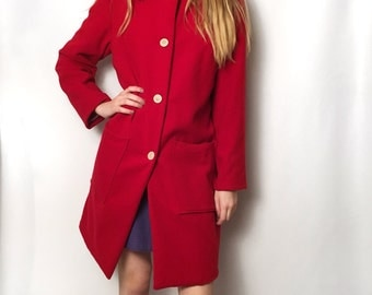 Fitted wool coat – Etsy UK