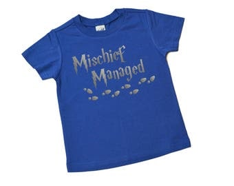 Mischief Managed Shirt - Harry Potter Shirt - Kids Shirt - I Solemnly Swear That I Am Up to No Good - Birthday Gift - Toddler - Youth