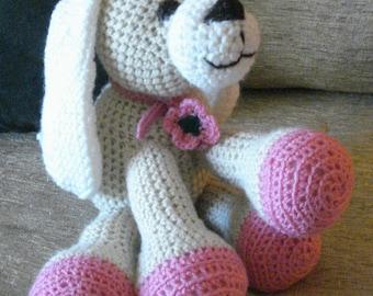 """Crocheted puppy dog stuffed animal doll toy """"Cindy"""""""