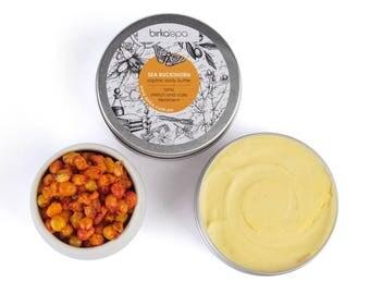 Sea Buckhorn Body Butter Citrus Body Butter -  Shea Body Butter - Body Butter - Stretch Treatment - Butter - Natural Cosmetics - Organic