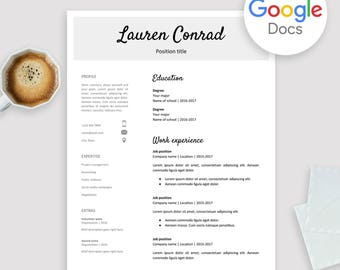 resume template for google docs printable resume editable instant download no microsoft - Google Docs Resume Templates