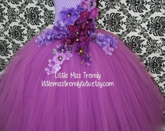 Orchid Purple Tutu Dress, Orchid Ball Gown Tutu Dress, Girls Pageant Tutu Dress, Orchid Purple Couture Tutu Dress, Flower Girl Tutu Dress