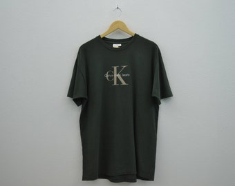 Calvin Klein Vintage T Shirt Made in USA Mens Size L-XL