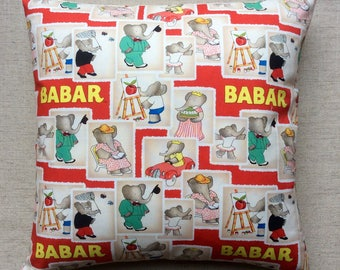 Babar Fabric Cushion With Interior 40cmx40cm