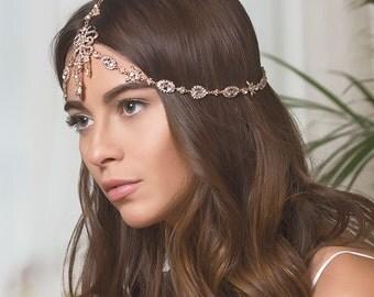 Gold Bridal Headpieces, Swarovski Crystal Hair Accessories, Wedding Headpiece, Wedding Headband, Bridal Hair Accessories, Wedding Hair H241