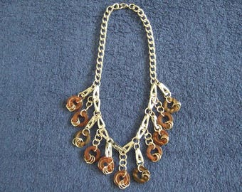 Necklace made with industrial elements.