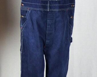 Vintage Pennys Pay Day Square Bak Sanforized Cotton Denim Overalls