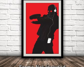 Marvel's Guardians of the Galaxy-Inspired Original Star-Lord Character Poster -  Wall Art, Minimalist