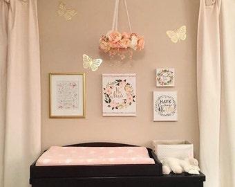 Rose Gold Nursery Etsy