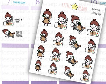 Mimi - Buy More Food, Cooking, Food Preparation, Grocery Shopping Planner Stickers