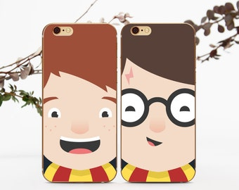 iPhone 6S Couple Case Best Friends Couple Case BFF Double iPhone Case iPhone 7 Set Case to Galaxy S7 Match Case Case For BF Plus 6 Case c004