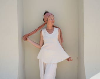 Gauze Cotton Tank in CREAM // Breathable, Weightless, Natural Fiber