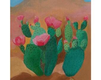 "Lil' Cactus Painting 5x7"""