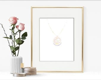 Single Pearl Necklace, Fashion Illustration, Pearl Necklace, Acrylic Painting
