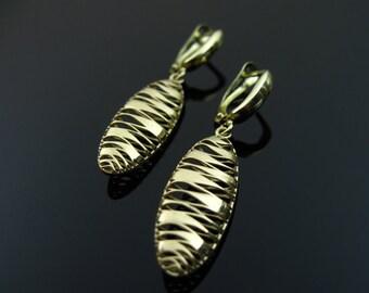 Gold dangle earrings, bridal earrings, bridesmaid earrings, wedding jewelry, gift for her,
