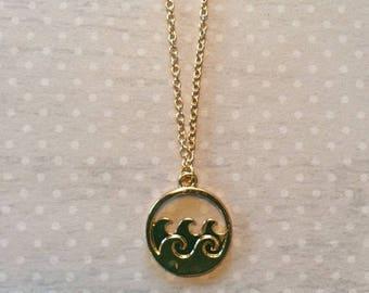Swim Necklace - Swim Jewelry - Swimming Gifts - Wave Necklace - Wave Jewelry - Beach Jewelry - Beach Necklace - Ocean Jewelry - Ocean Wave