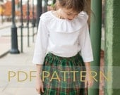 Gathered Skirt PDF, holiday skirt PDF, girls easy pattern, pdf pattern, girls skirt pdf, little girls pattern, pdf sewing, toddler skirt pdf