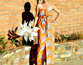 Long Bridesmaid Dress-Bridesmaid Dress Long-Boho Bridesmaid Dress-Top Separate-Wear Again Bridesmaid-Festive Bright Floral-Solid-No Fittings