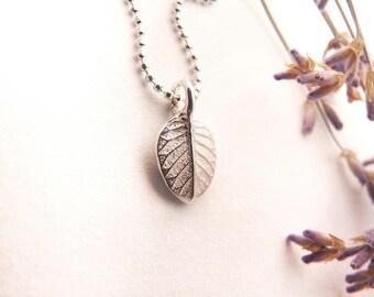 Silver Tiny Leaf Necklace