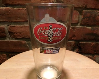 Nascar Kurt Busch Coca Cola Glass, Kurt Busch, Nascar glass, Coca Cola Nascar Kurt Busch pint glass, Nascar barware, man cave decor