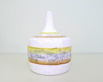 Vintage Italian Pottery Vase for Raymor, Italy, Mid Century Modern