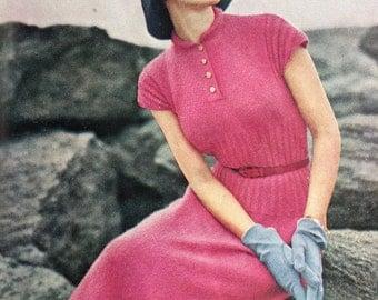 Vintage Vogue Knitting Book Magazine No 36 1950s vintage knitting patterns