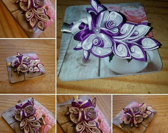 Kanzashi Flower - Purple passion hairclip