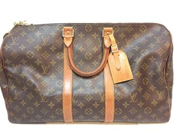 Authentic Vintage Louis Vuitton LV keepall 45 speedy handbag travel bag duffle bug boston bag