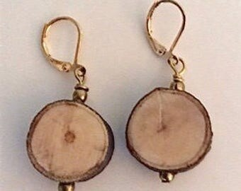 Olive Branch Peace Earrings  Hand Carved by Jack Cousin. Designed and Made by Andrea Comsky