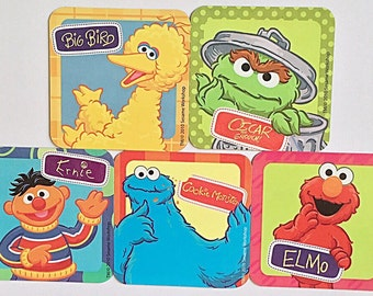 Sesame Street Refrigerator Magnets, Ernie Oscar the Grouch Elmo Big Bird Cookie Monster, 5 Fridge Magnets Set, LAST ONE