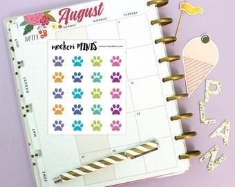 20 Paw Prints Pet Mini Stickers / Planner Stickers