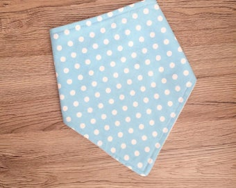 Baby Dribble Bib, Spotty Bib, Toddler Bib, Baby Gift, Baby Shower, New Baby, Handmade in the UK