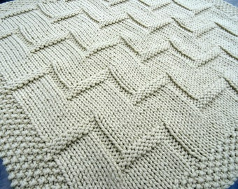 Stepping Up easy knitting pattern bably blanket
