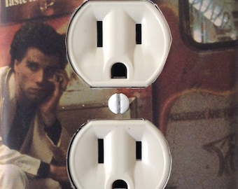 Saturday Night Fever John Travolta as Tony Manero Classic Movie Outlet Plate Cover Mancave Home Theater Den Dorm FREE US SHIPPING