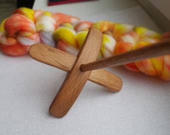 Mini Spining Kit for Beginners and Experienced Spinners with Turkish Spindle and Handdyed Roving