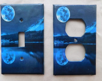 Moon and Mountain Switch Plates