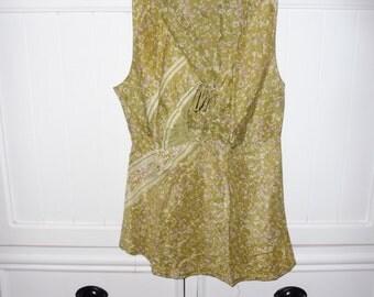 Silk top size M (38-40 FR) - 1990s TOUPY