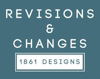 Revisions to Order // 1861 Designs