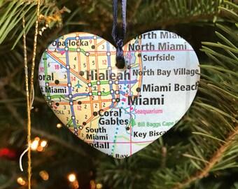 Miami Map Ornament
