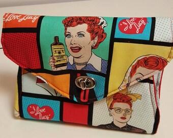 I Love Lucy Clutch Purse. Retro Clutch Purse. Retro Handbag. Lucille Ball Purse. I Love Lucy Handbag.Accessories