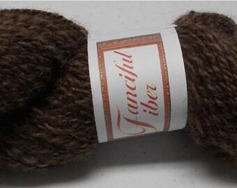 Handspun 100%  Llama Yarn 2 Ply  Medium Brown (I)