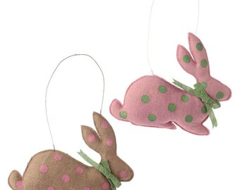"Sale!!! Raz Imports 15"" Hanging Burlap Rabbit - Set of 2/Wreath Supplies/Easter Decor/Bunny Door Decor/3553314"