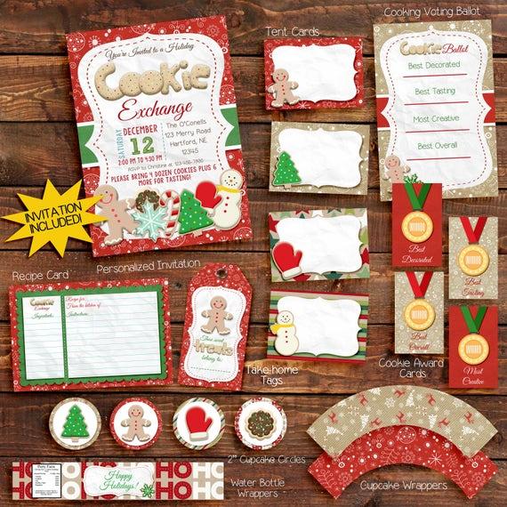 Cookie exchange invitation / Printable Invite